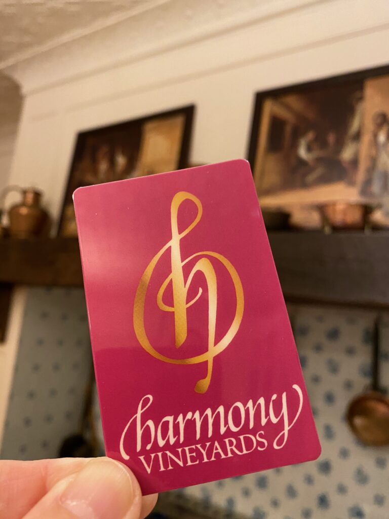 harmony vineyards gift card